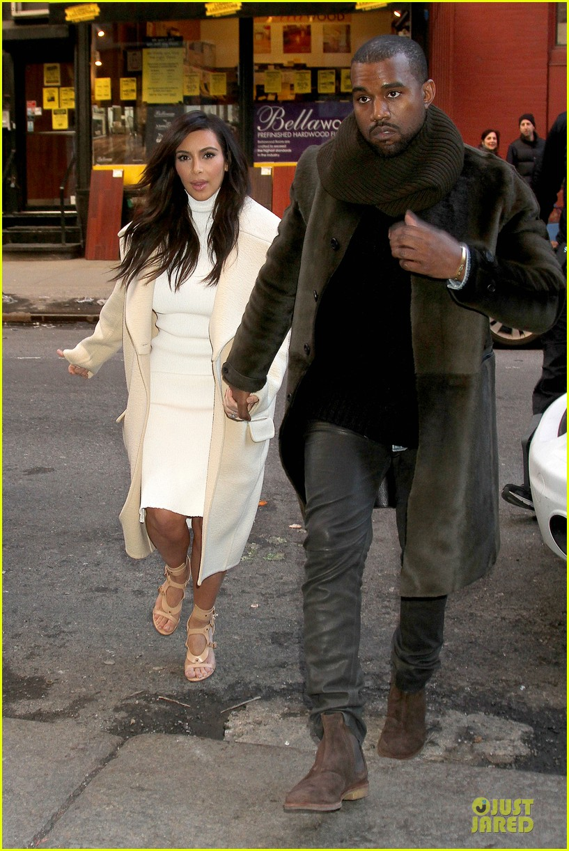 kim kardashian kanye west hold hands at abc kitchen 033058541