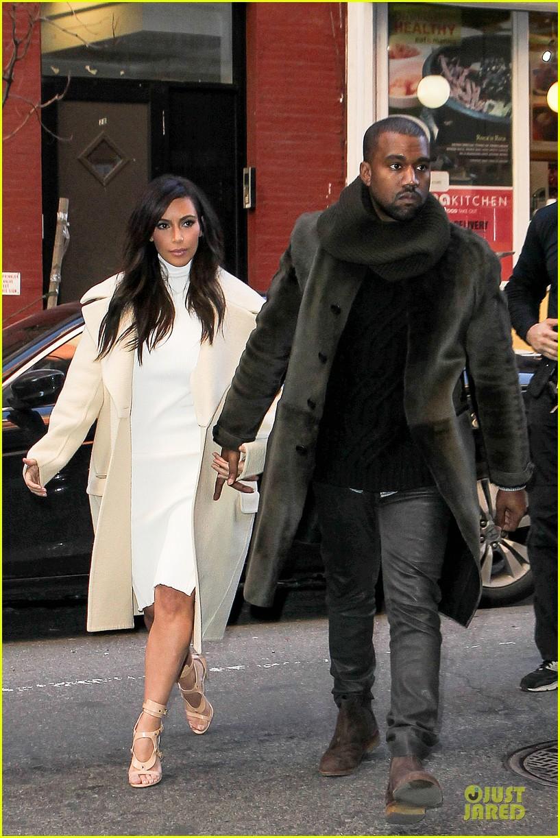 kim kardashian kanye west hold hands at abc kitchen 073058545