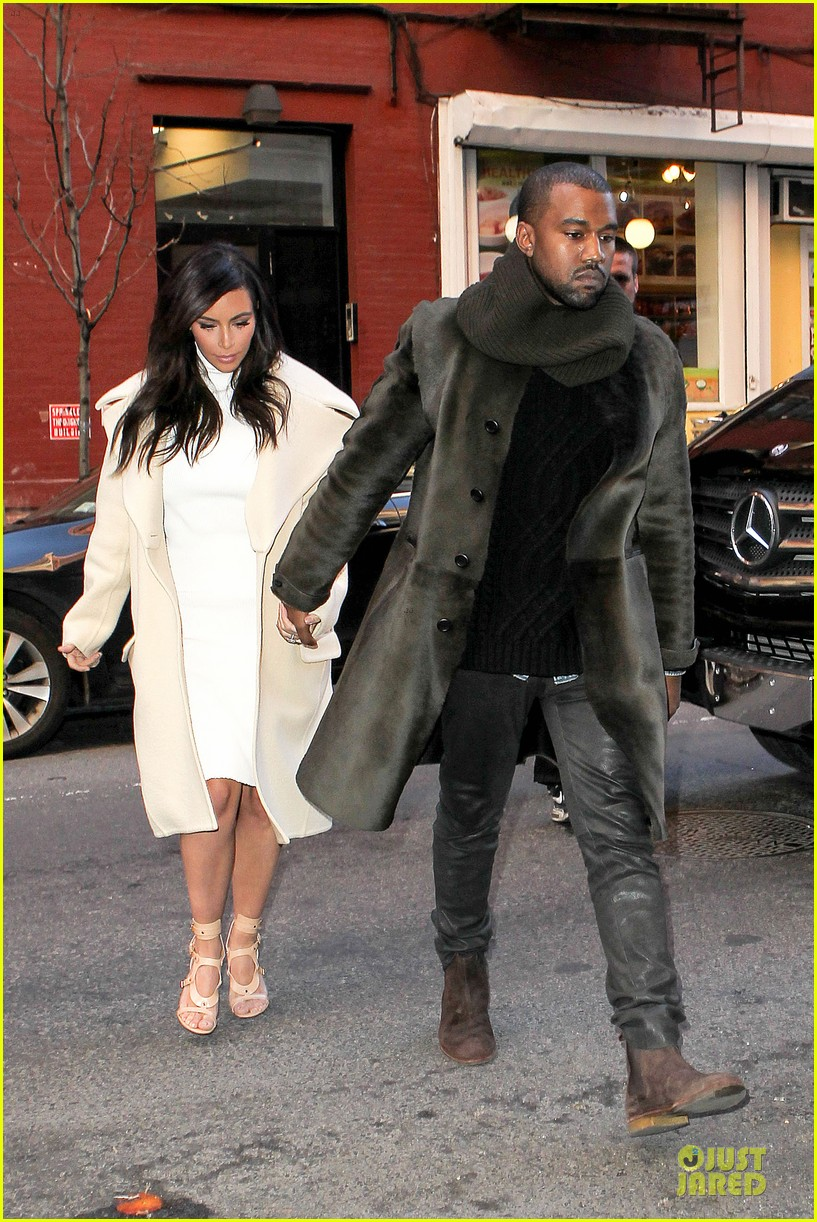 kim kardashian kanye west hold hands at abc kitchen 093058547