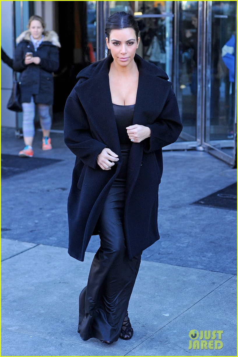 kim kardashian films kuwtk with her sisters khloe sends message on coat fxck yo fur 073055125