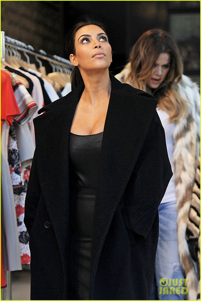 kim kardashian films kuwtk with her sisters khloe sends message on coat fxck yo fur 223055140