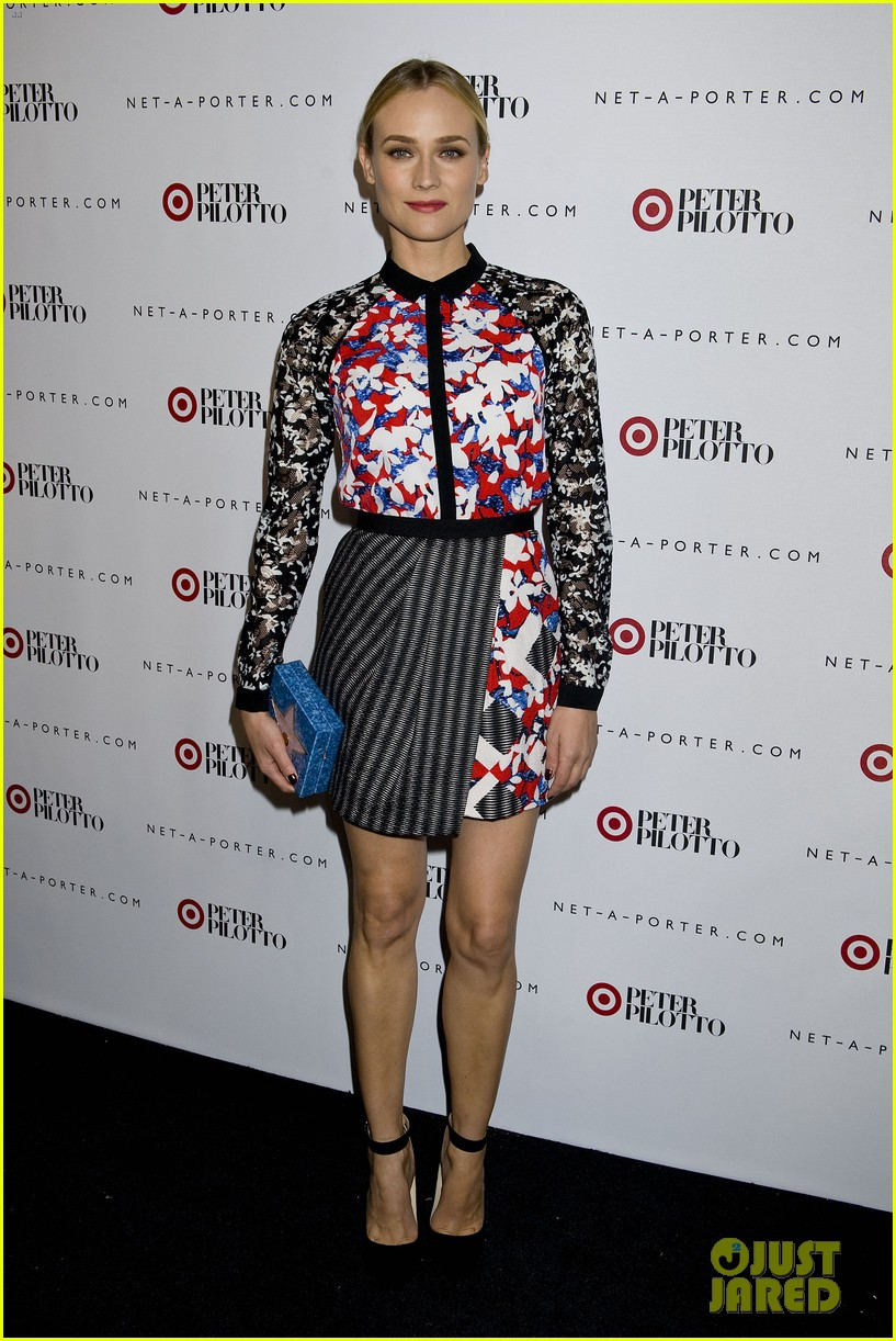 diane kruger rocks floral print at peter pilotto for target event 083048829