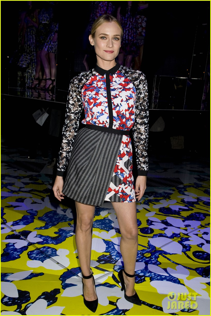 diane kruger rocks floral print at peter pilotto for target event 103048831