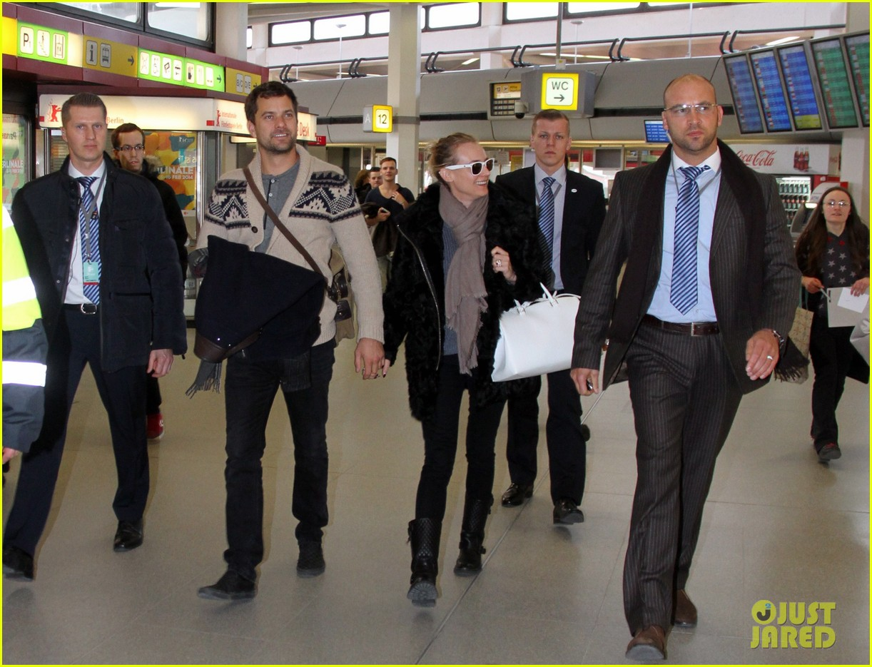 diane kruger joshua jackson share a smile while leaving berlin 013051368