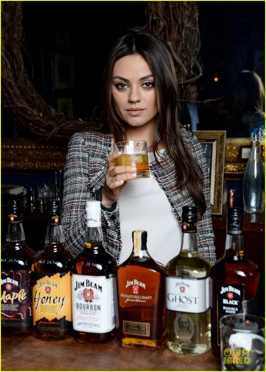 mila kunis debut jim beam bourbon ad watch now 013058195