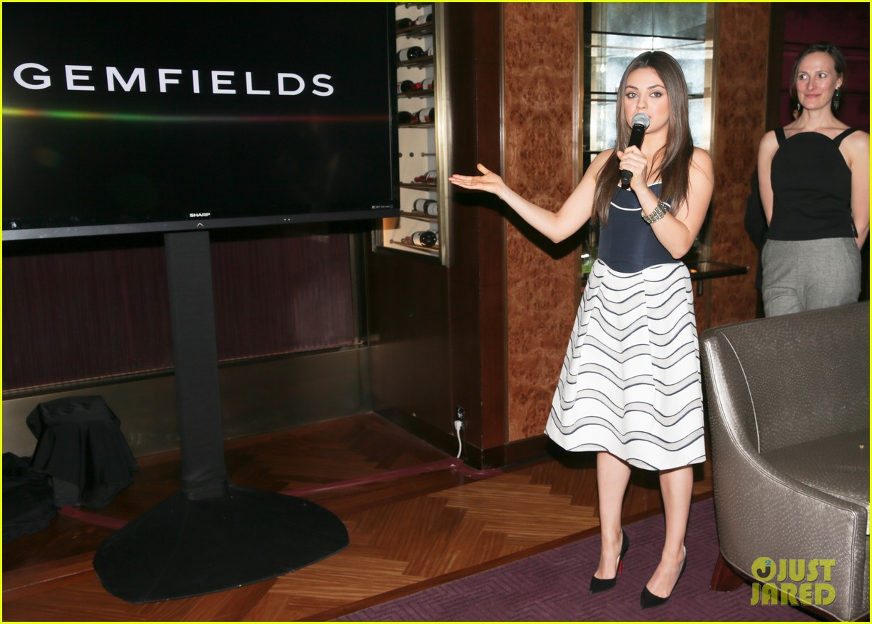 mila kunis celebrates gemfields collaboration with big party 05