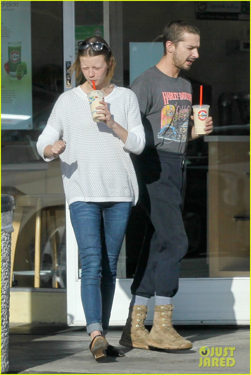 Shia LaBeouf & Girlfriend Mia Goth: PDA Pair While ...