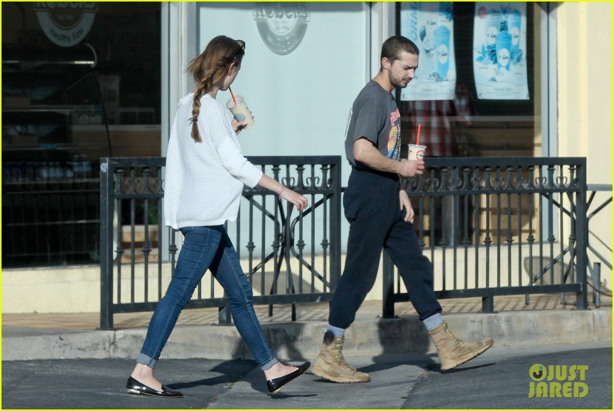 shia labeouf girlfriend mia goth pda pair while shopping 12