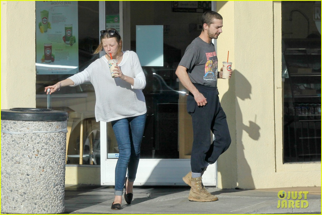 shia labeouf girlfriend mia goth pda pair while shopping 133055262