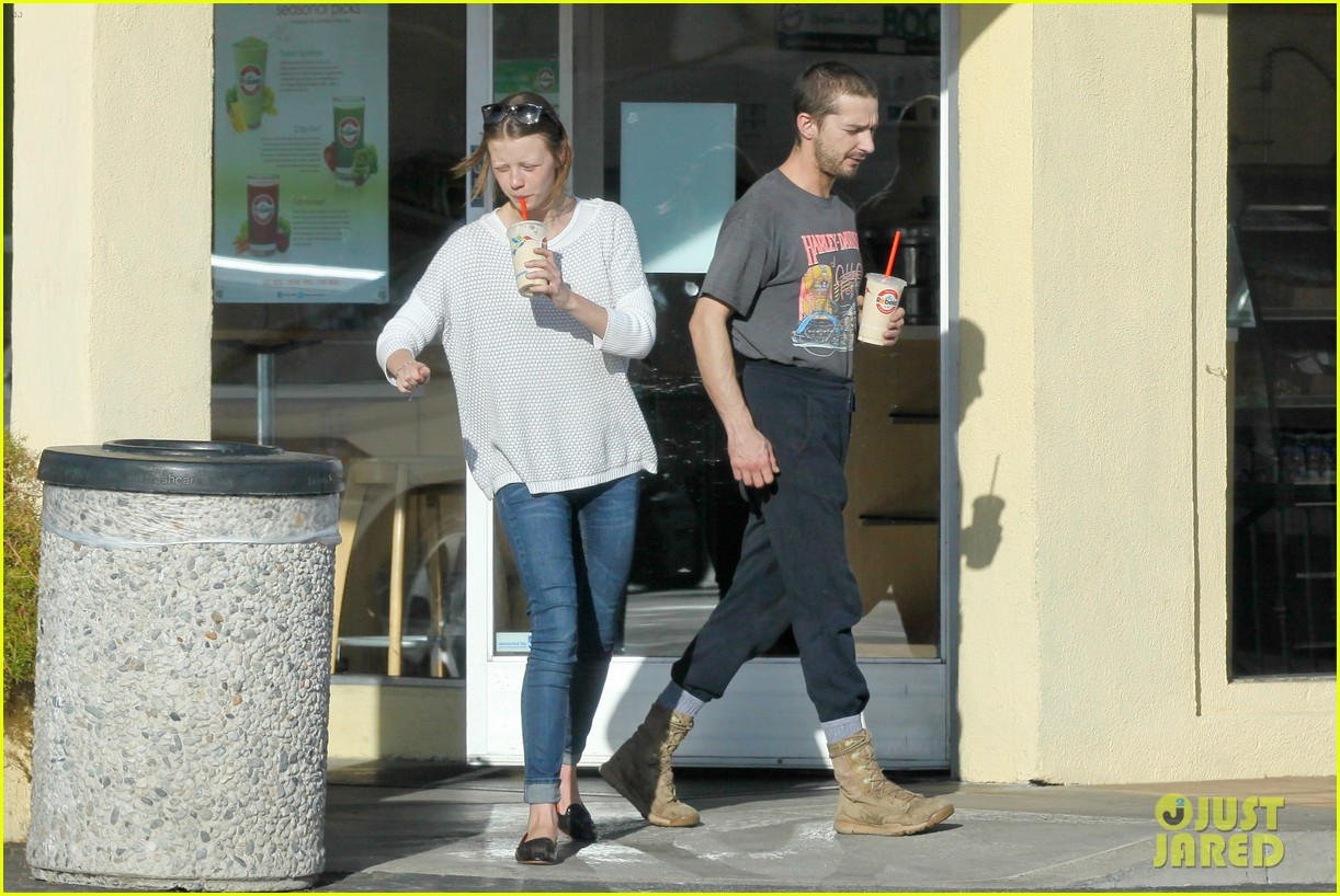 shia labeouf girlfriend mia goth pda pair while shopping 173055266