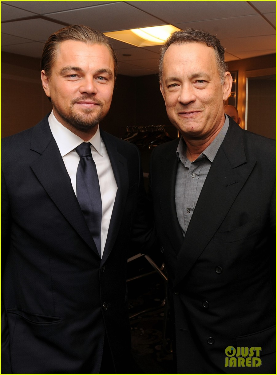 leonardo dicaprio ace eddie awards 2014 with tom hanks 083049580