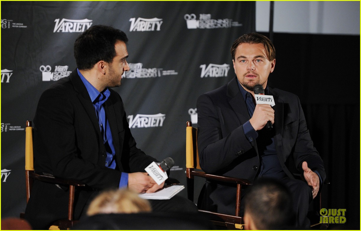 leonardo dicaprio promotes wolf of wall street at variety screening 013047714