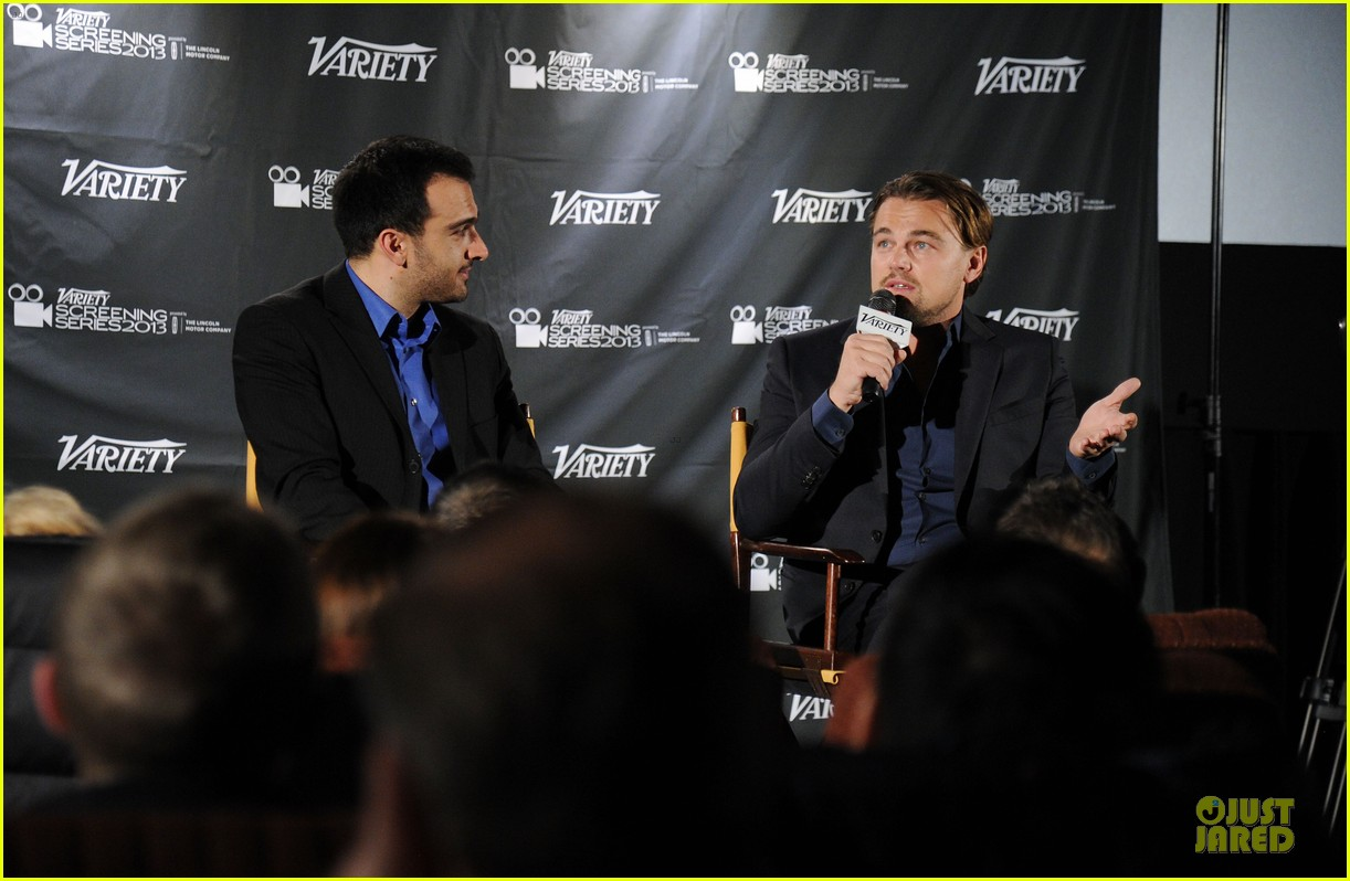 leonardo dicaprio promotes wolf of wall street at variety screening 033047716