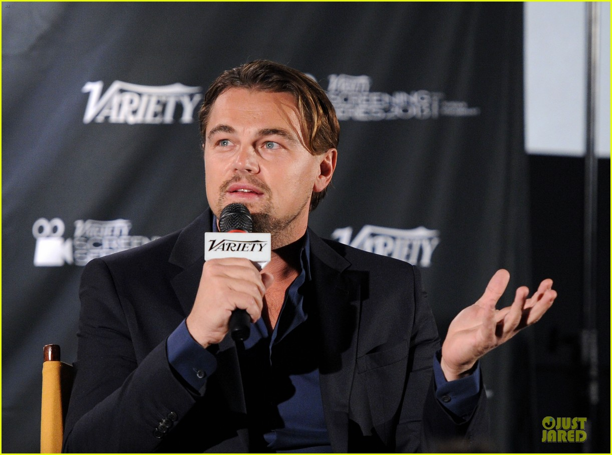 leonardo dicaprio promotes wolf of wall street at variety screening 043047717
