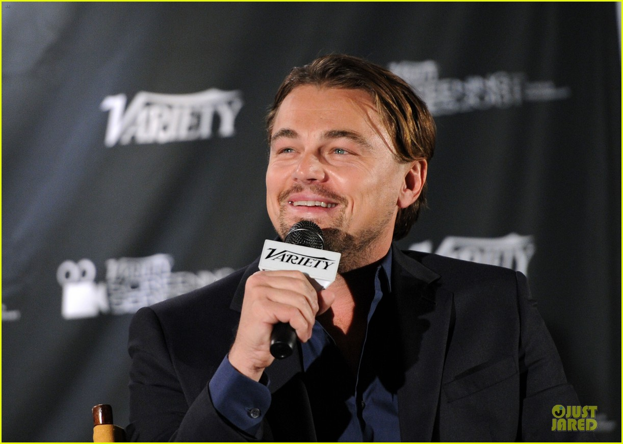 leonardo dicaprio promotes wolf of wall street at variety screening 063047719