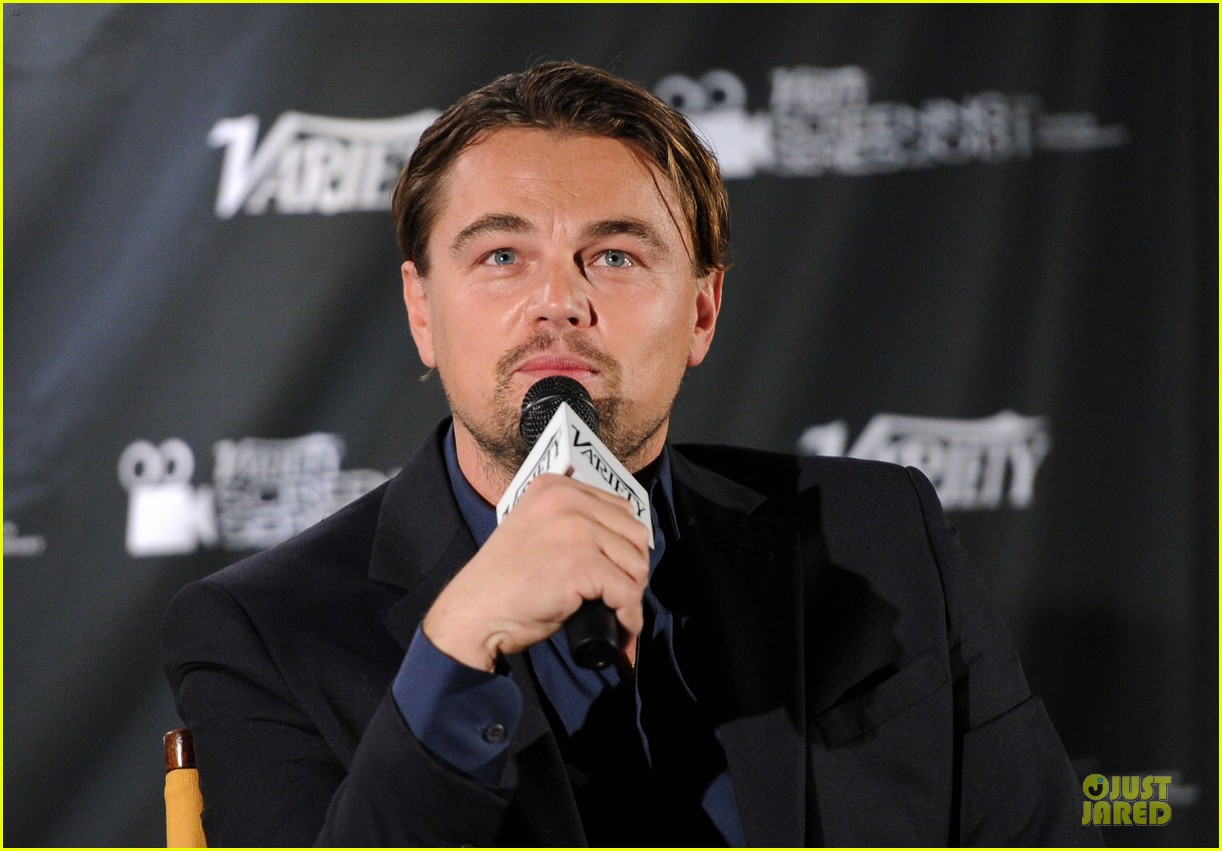 leonardo dicaprio promotes wolf of wall street at variety screening 073047720