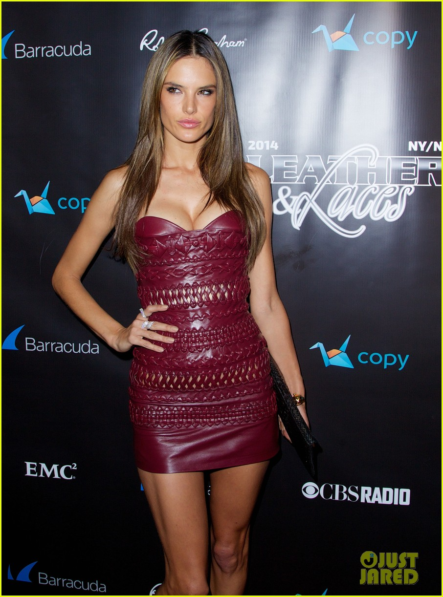 adriana lima alessandra ambrosio leather laces party 083046077