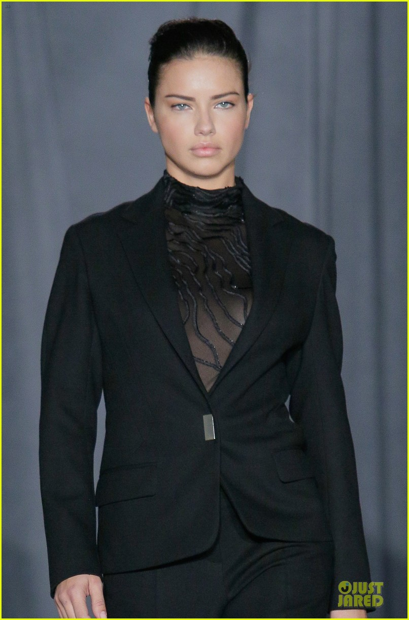 adriana lima models suit at jason wu fashion show 02