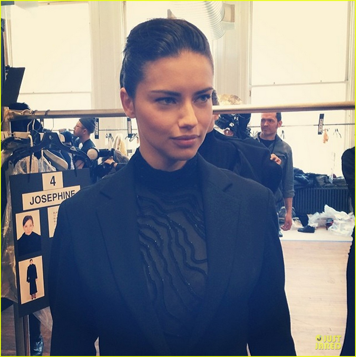 adriana lima models suit at jason wu fashion show 053049442