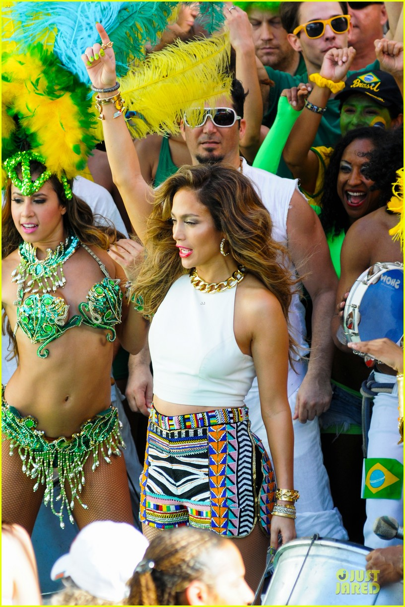 jennifer lopez shoots vibrant world cup music video 183051561