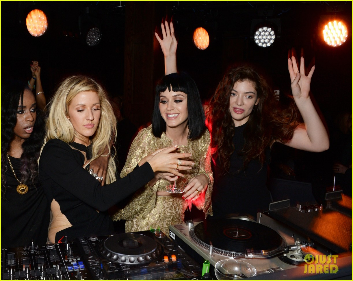 lorde takes on dj duties with katy perry ellie goulding brit awards after party 013057035