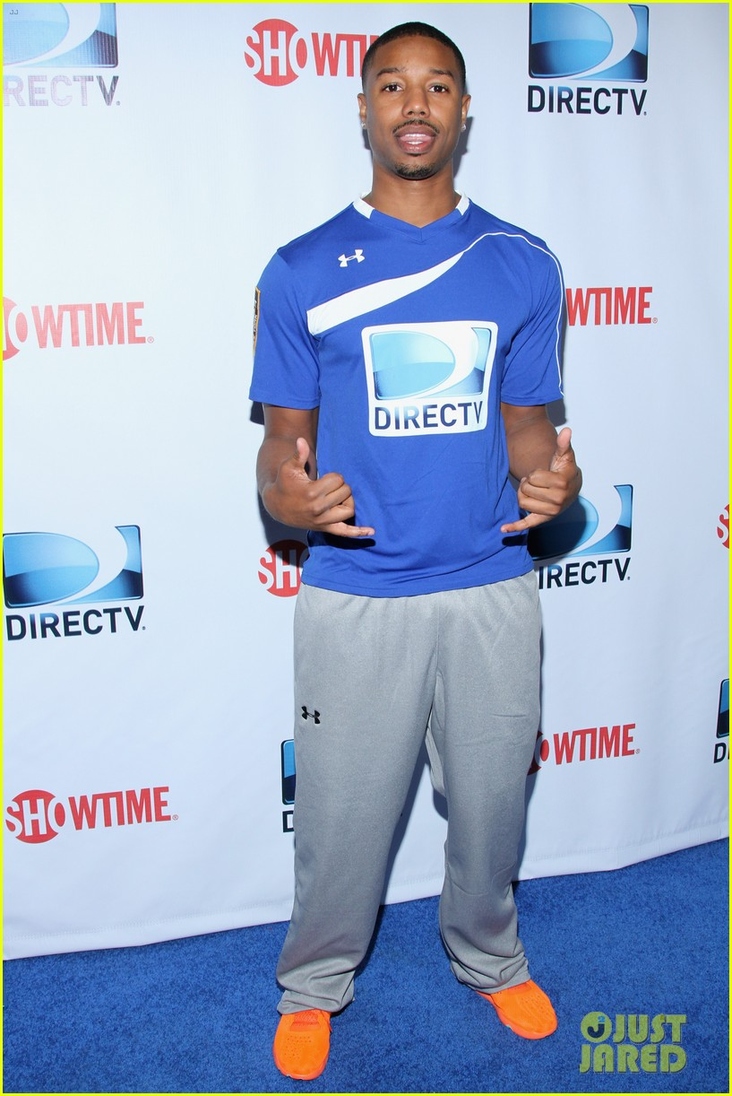 michael b jordan scott porter friday night lights reunion at directv beach bowl 2014 013045658