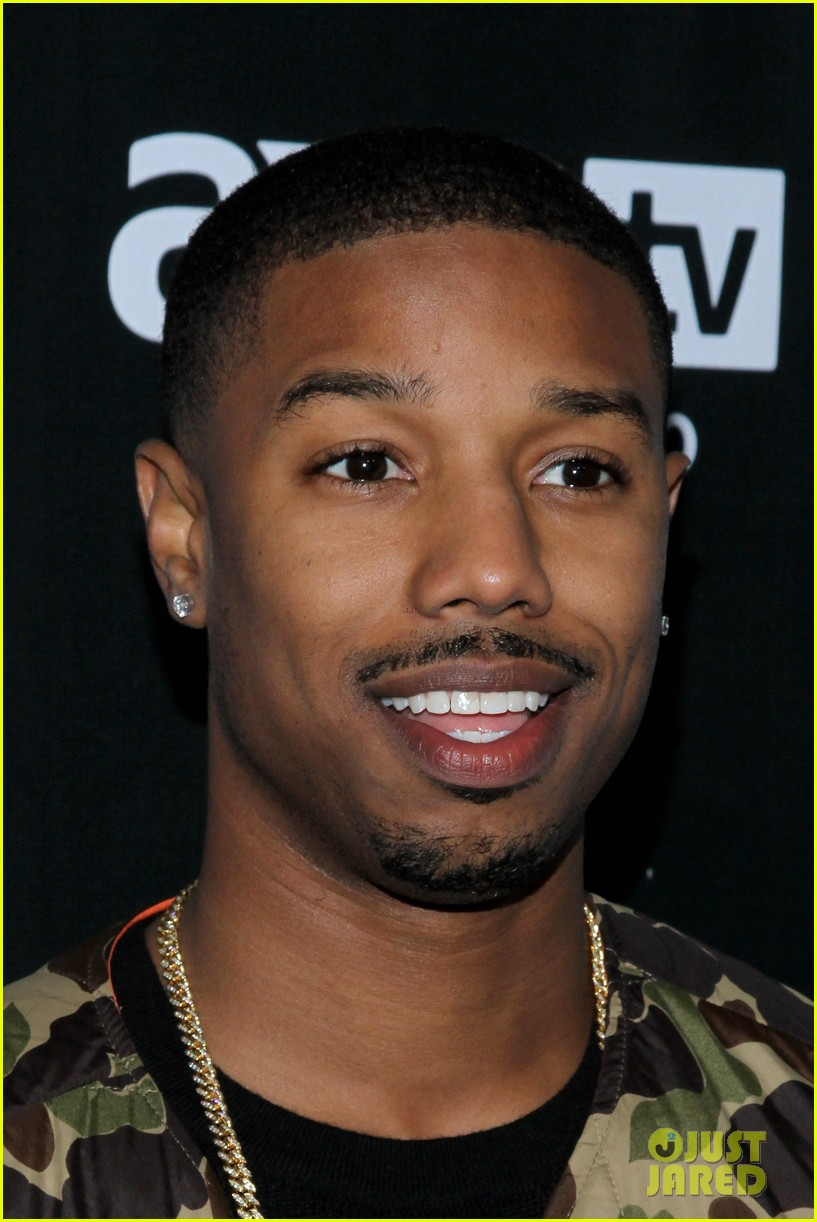 michael b jordan shay mitchell directvs super bowl party 08