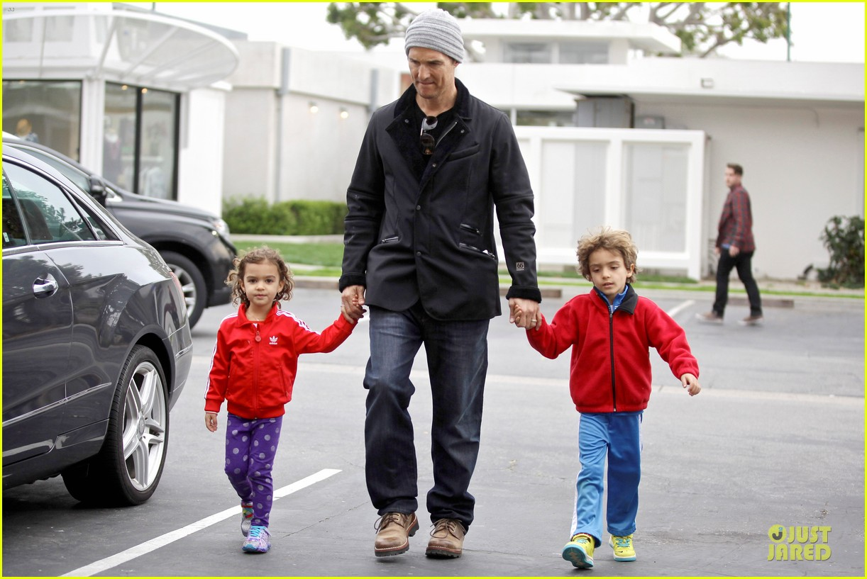 matthew mcconaughey lego movie showing with the kids 233056059