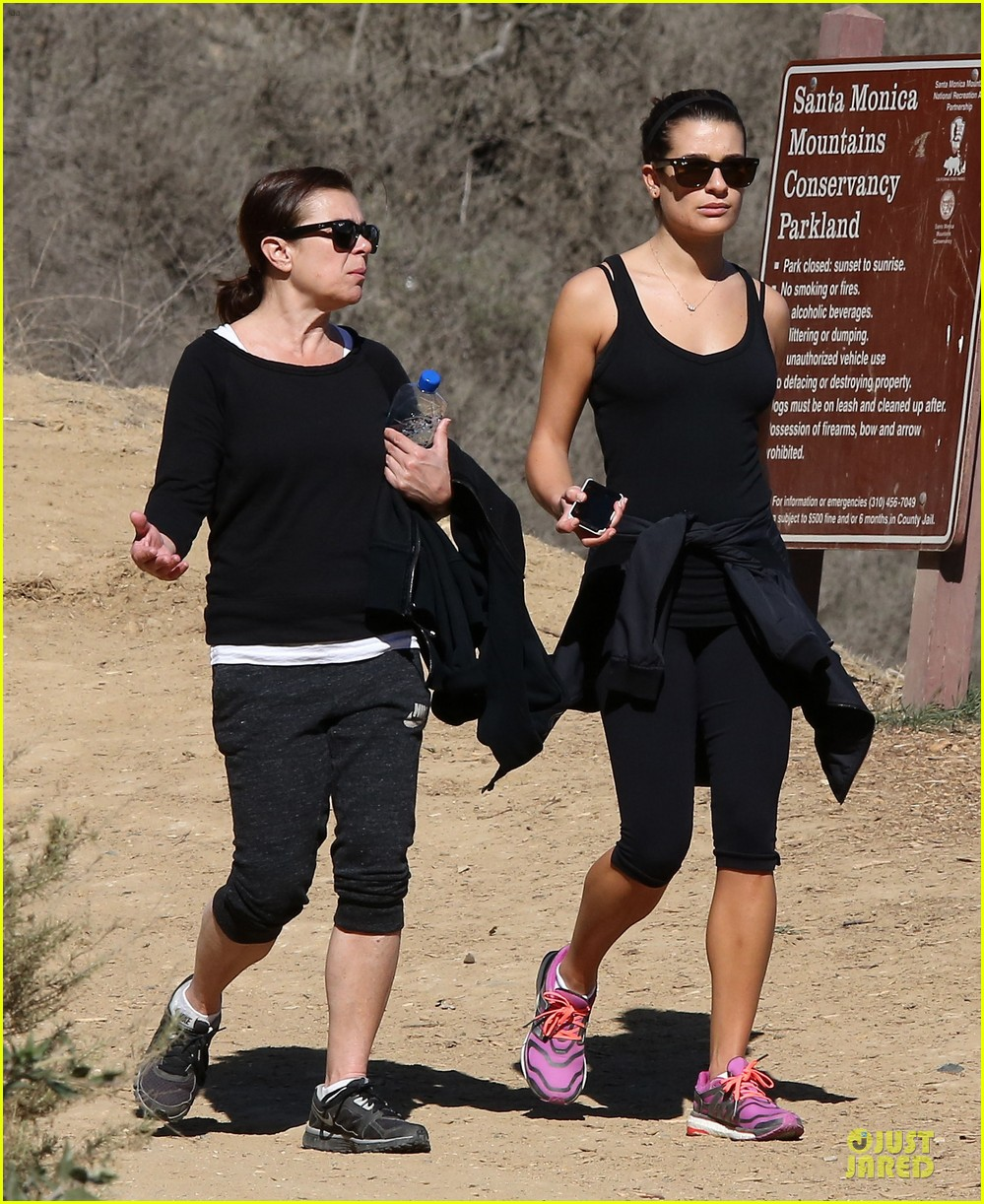 lea michele starts the week right with a family hike 013047090