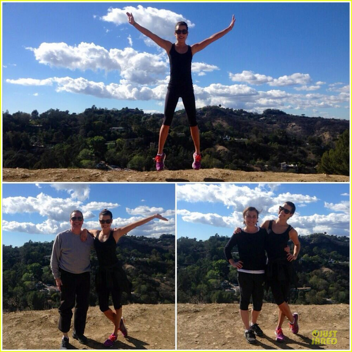 lea michele starts the week right with a family hike 053047094