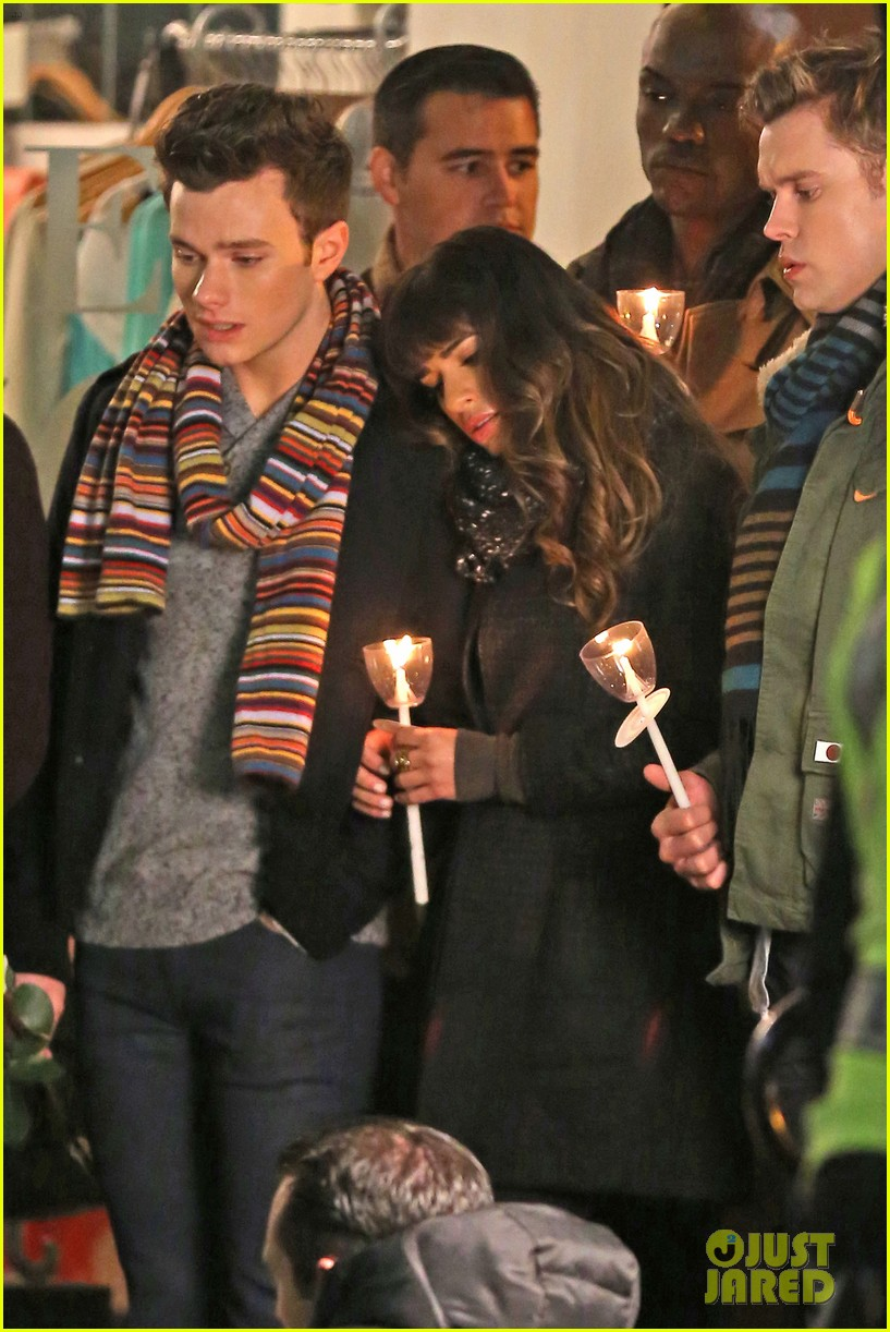 lea michele chris colfer film memorial scene for glee 10