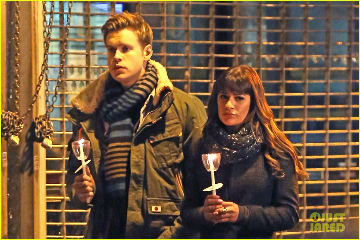 lea michele chris colfer film memorial scene for glee 233060849