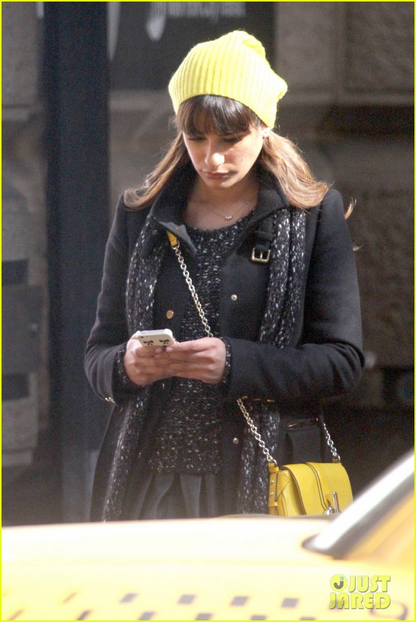 lea michele films glee new york scenes with kevin mchale 283056557