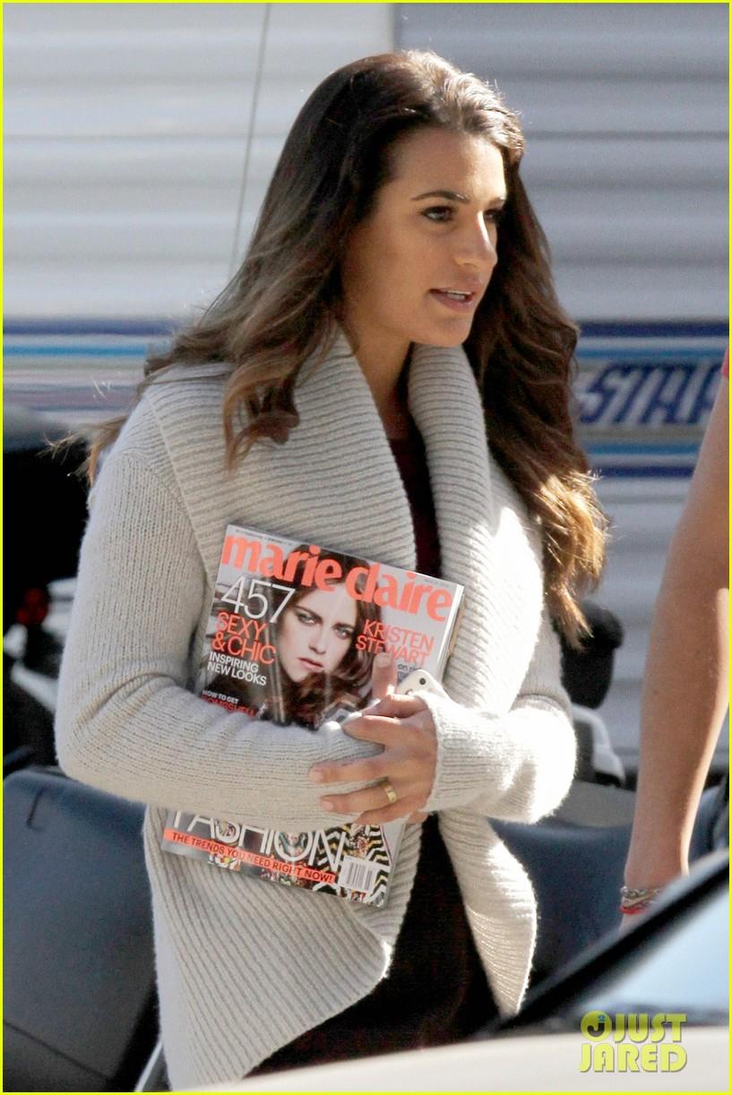 lea michele reads kristen stewarts marie claire magazine issue 093058137