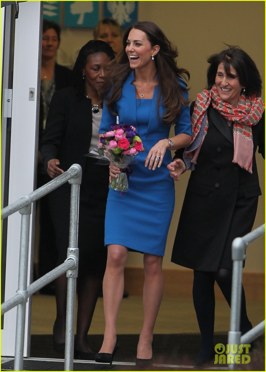 kate middleton opens the icap art room on valentines day 023053288