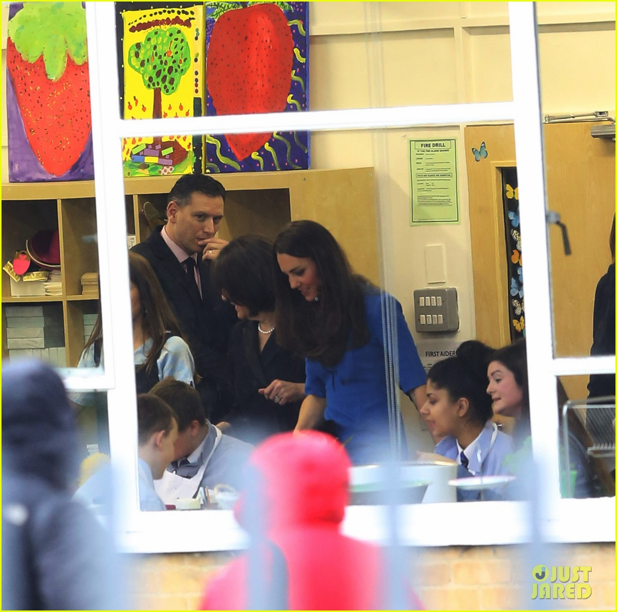 kate middleton opens the icap art room on valentines day 143053300