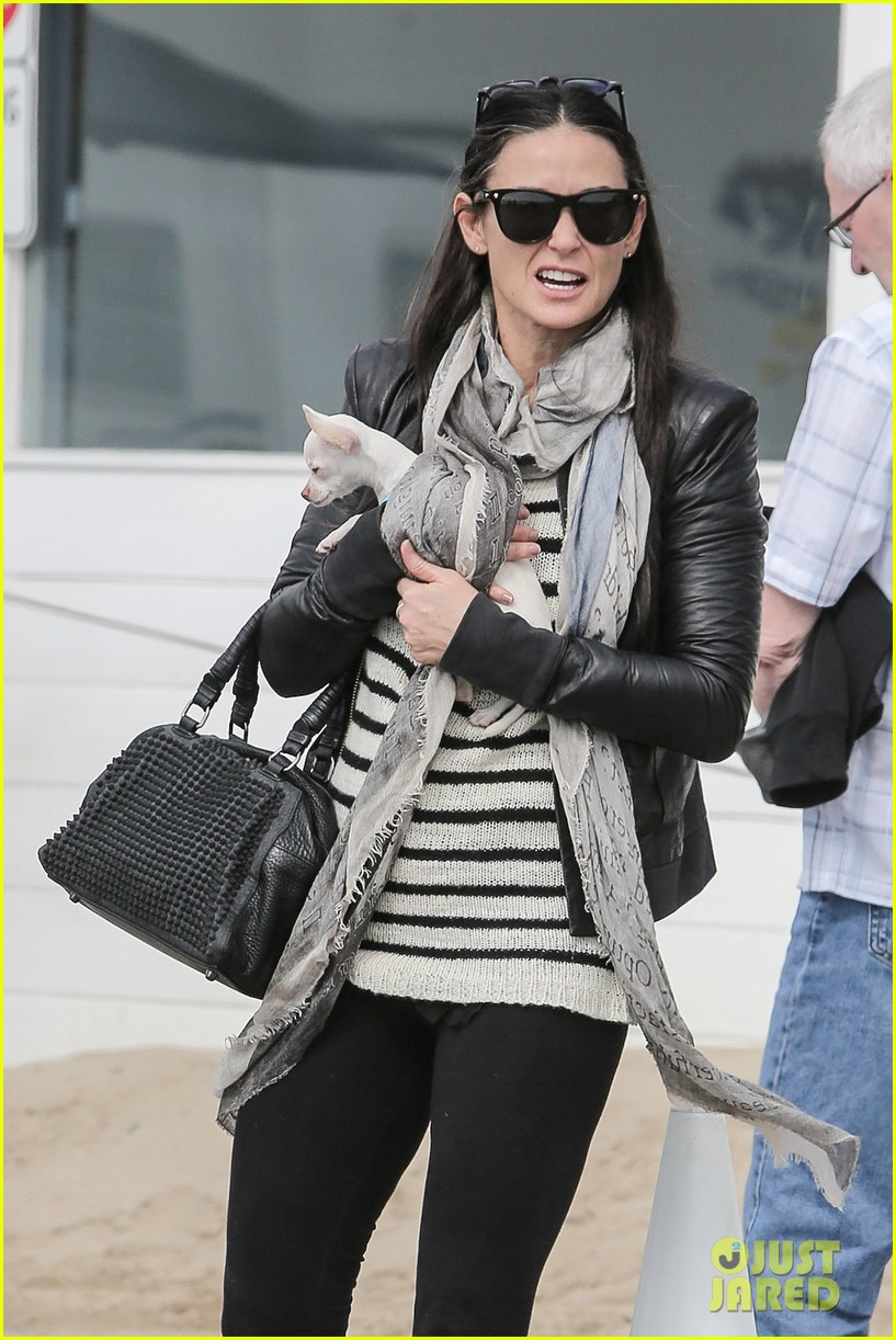 demi moore takes her tiny dog to yoga class 073051311