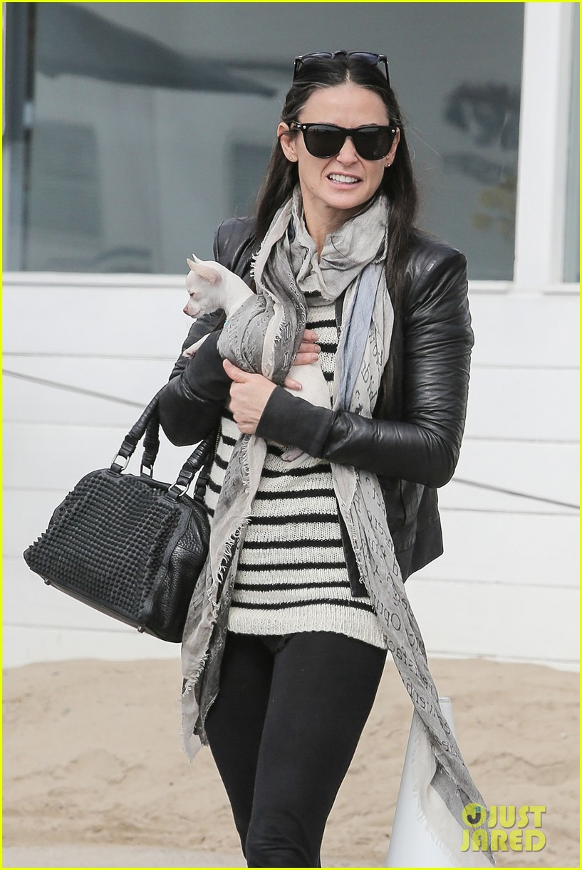 demi moore takes her tiny dog to yoga class 083051312