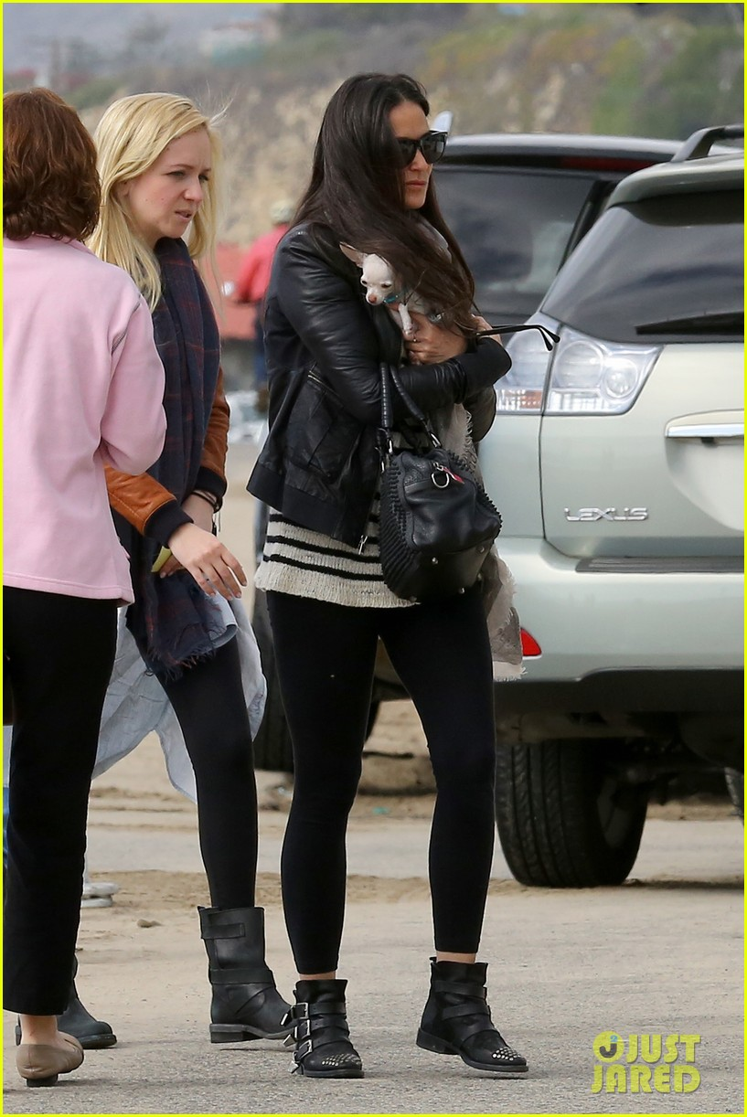 demi moore takes her tiny dog to yoga class 093051313