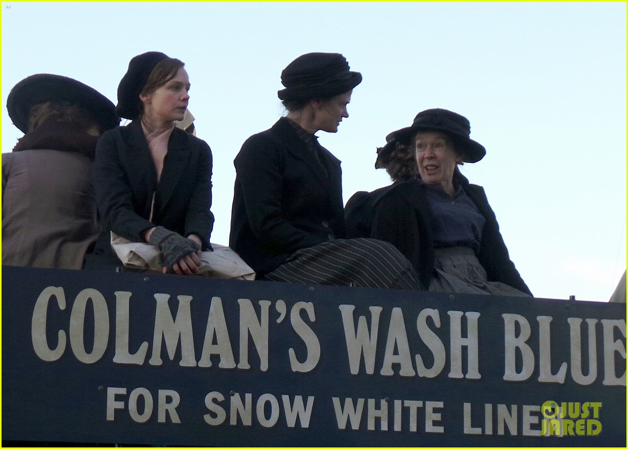 carey mulligan begins filming suffragette in london 12