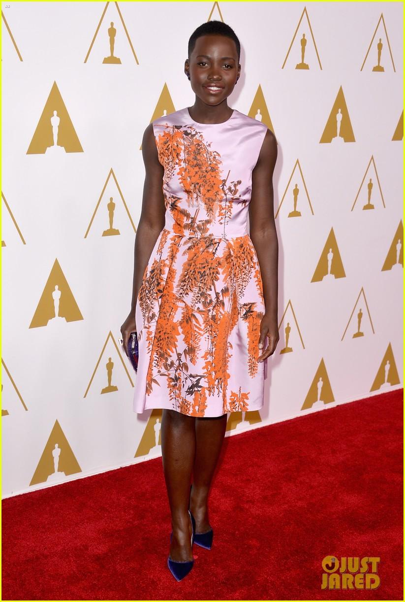 lupita nyongo barkhad abdi oscars nominees luncheon 2014 02