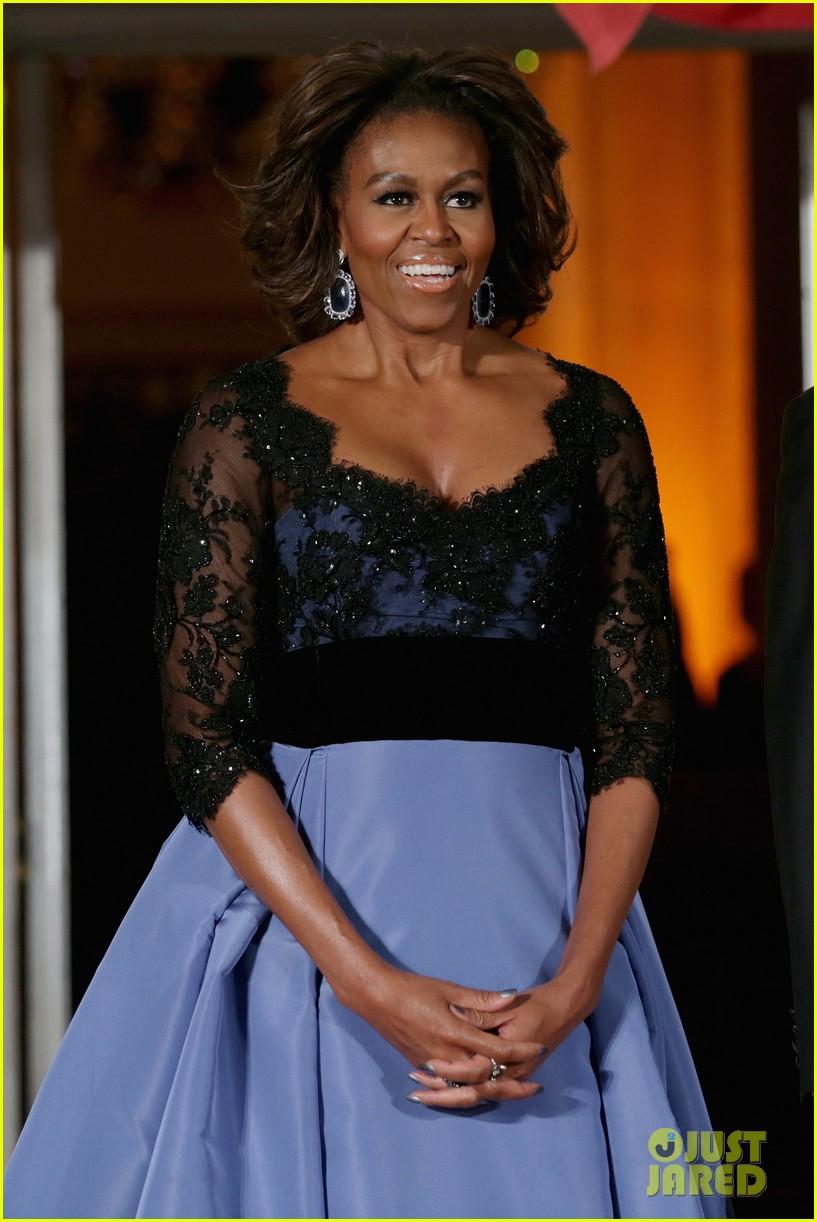 barack michelle obama white house state dinner 023051801