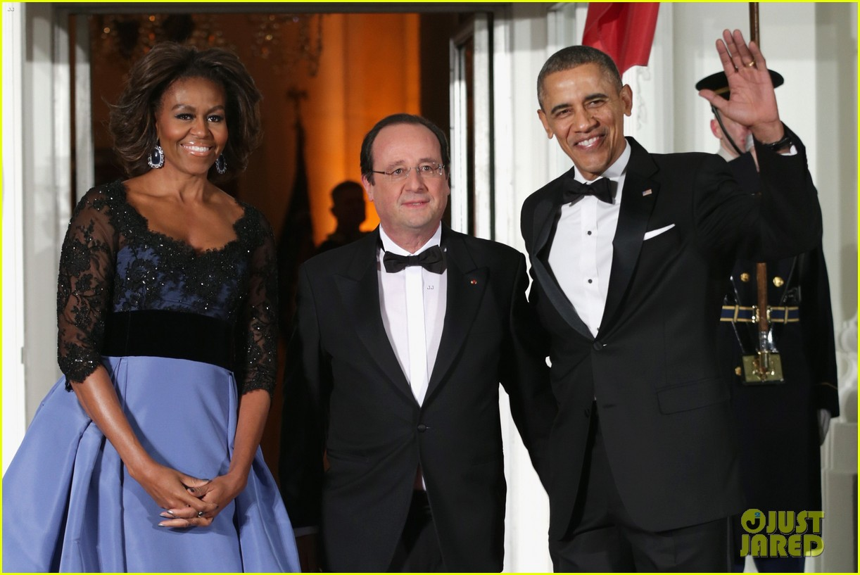 barack michelle obama white house state dinner 083051807