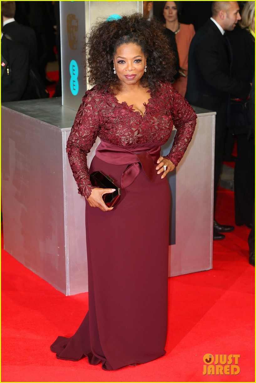 oprah winfrey baftas 2014 red carpet 01