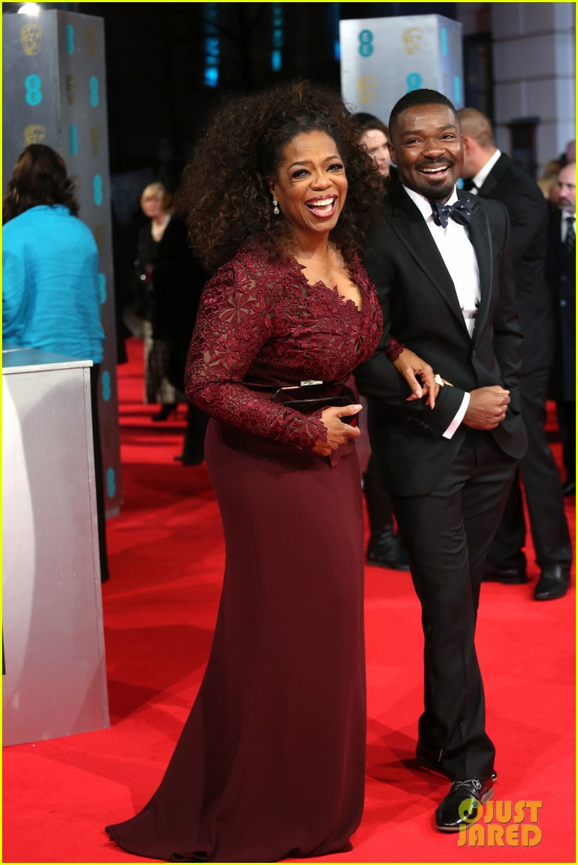 oprah winfrey baftas 2014 red carpet 053054562
