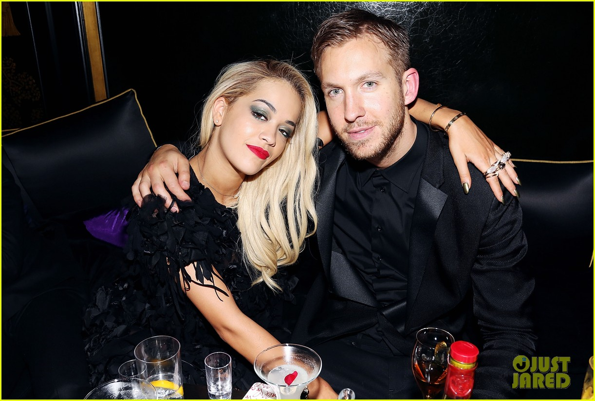 rita ora brit awards after party with boyfriend calvin harris 173056686