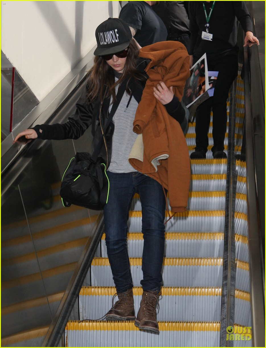 ellen page steps out after coming out as gay 013055861
