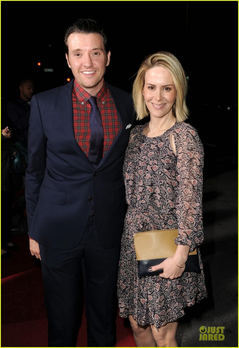 sarah paulson supports jason butler harner at non stop premiere 073060167