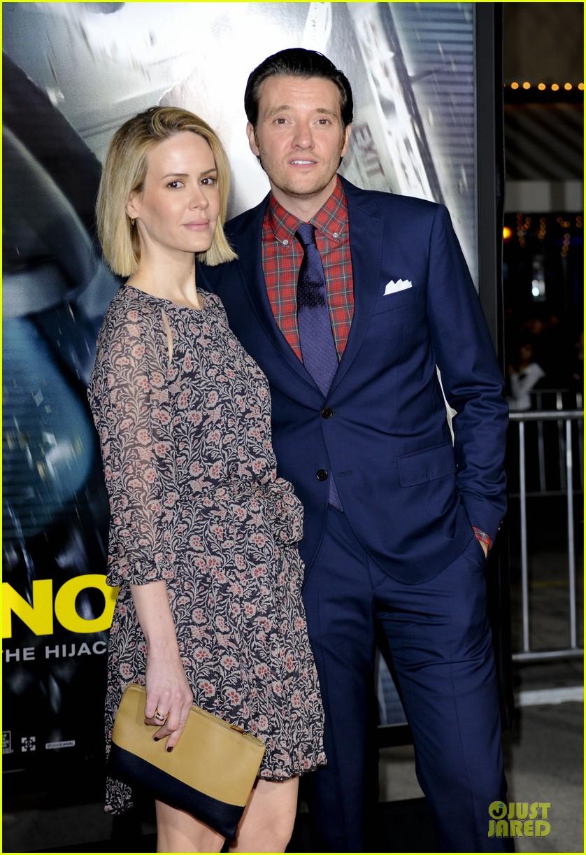 sarah paulson supports jason butler harner at non stop premiere 18