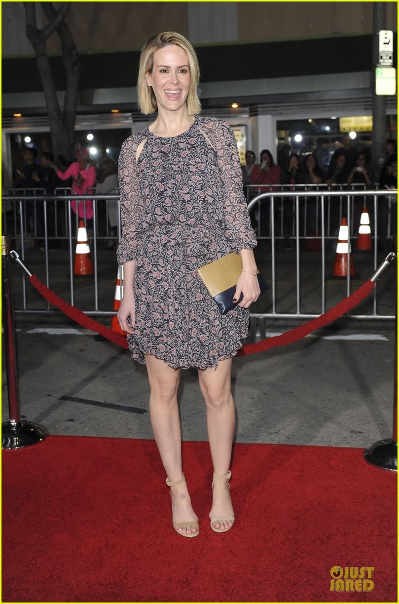 sarah paulson supports jason butler harner at non stop premiere 20
